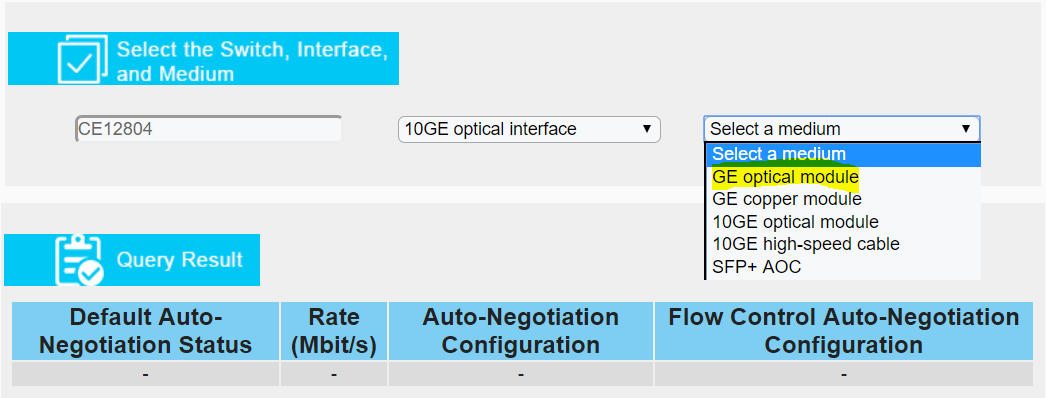 How do I obtain interfaces,medium and speed rate of ports supported by CE series switches?-2644913-4