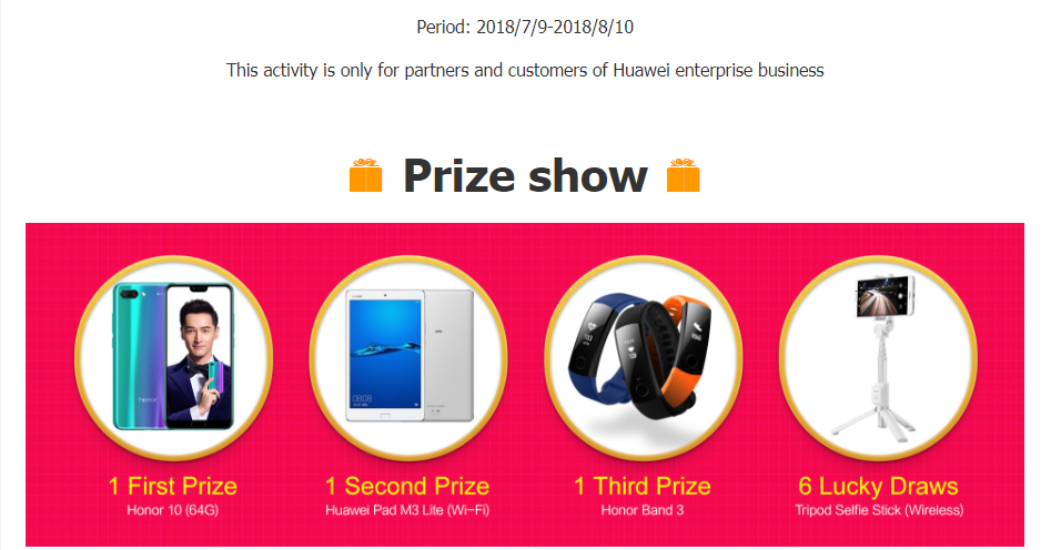 Join the activity to win an Honor 10-2693705-2