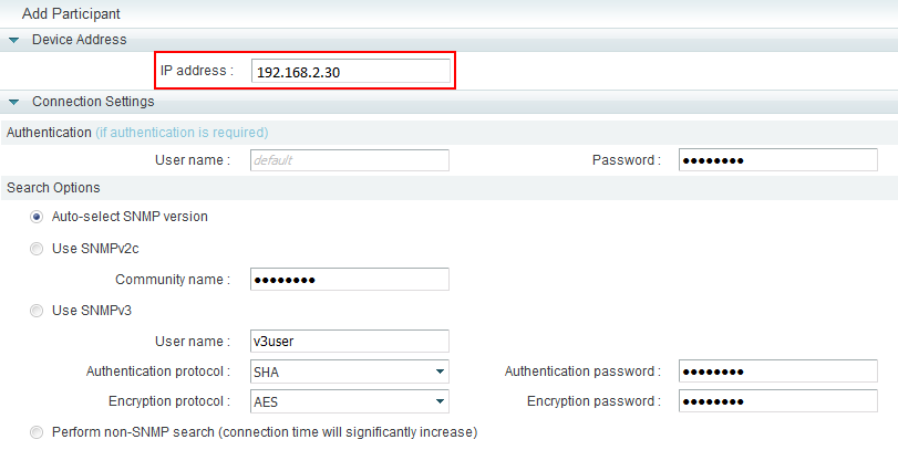 Cannot add participant (TE30) to the SMC 2.0-3011637-4
