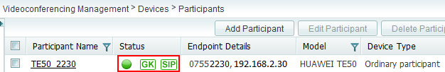 Cannot add participant (TE30) to the SMC 2.0-3011637-6