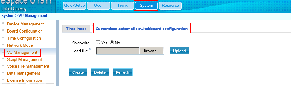 How to configure the switchboard IVR-3024535-1