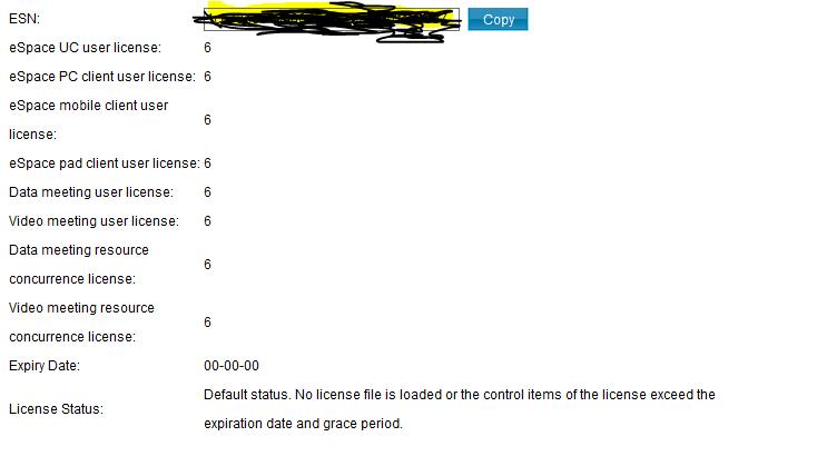 eSpace UC BMU License