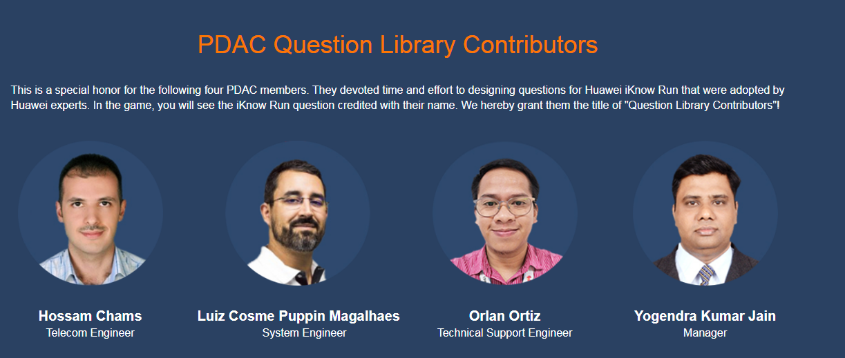PDAC question library contributor